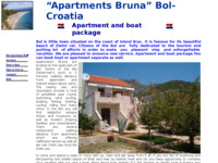 Frontpage screenshot for site: Apartmani Bruna Bol (http://www.bol-apartmani-bruna.hr)
