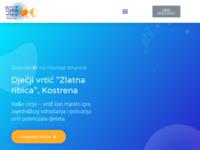 Frontpage screenshot for site: Dječji vrtić Zlatna ribica, Kostrena (http://www.zlatnaribica.hr/)