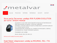 Frontpage screenshot for site: Metalvar d.o.o. Zagreb (http://www.metalvar.hr/)
