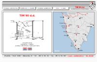 Frontpage screenshot for site: TIM90 d.d. Poreč (http://www.tim90.hr)