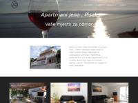 Frontpage screenshot for site: Apartmani Jena Pisak (http://apartmani-jena.bravehost.com/)