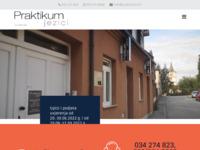 Frontpage screenshot for site: Praktikum (http://www.praktikum.hr/)