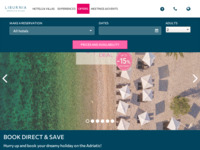 Frontpage screenshot for site: Liburnia Riviera Hoteli Opatija (http://www.liburnia.hr)