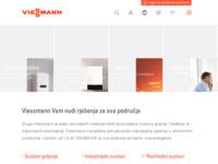 Frontpage screenshot for site: Viessmann d.o.o. Hrvatska (http://www.viessmann.hr/)