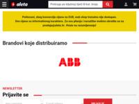 Slika naslovnice sjedišta: Aleta d.o.o. - Online katalog elektromaterijala (http://www.aleta.hr/)