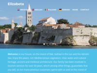 Frontpage screenshot for site: Ljetovanje na Rabu (http://www.elizabeta.org)