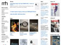 Frontpage screenshot for site: Matica Hrvatska (http://www.matica.hr/)