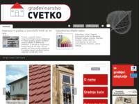 Frontpage screenshot for site: Gradnja Cvetko (http://www.gradnja-cvetko.hr/)