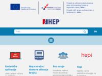 Frontpage screenshot for site: Hrvatska elektroprivreda d.d. (http://www.hep.hr/)
