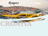 Frontpage screenshot for site: KOMPAS ZAGREB - Putnička agencija (http://www.kompas.hr)