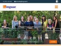 Frontpage screenshot for site: Linguae strani jezici (http://www.linguae.hr/)