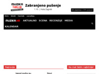 Frontpage screenshot for site: Klub Muzika (http://www.muzika.hr)
