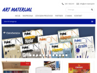 Frontpage screenshot for site: Art Materijal d.o.o. (http://www.art-materijal.hr/)