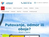 Frontpage screenshot for site: Atlas airtours (http://www.atlasairtours.hr)