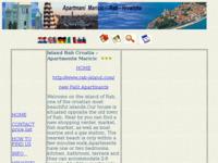 Frontpage screenshot for site: Apartmani Maričić - Rab (http://www.inet.hr/~romarici/)