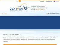 Frontpage screenshot for site: Turistička agencija Gea Tours, Vodice (http://www.gea-tours.hr)