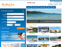 Frontpage screenshot for site: Arbela Travel Zadar (http://www.arbela.eu)