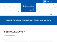 Slika naslovnice sjedišta: Kibernetika, tvrtka za usluge u elektronici, Zagreb (http://www.kibernetika.hr)