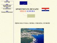 Frontpage screenshot for site: Apartmani Benazić - Villa Aurora (http://free-pu.htnet.hr/pjescana)