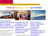 Frontpage screenshot for site: Lista za Rijeku (http://www.listazarijeku.com)
