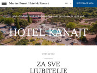 Frontpage screenshot for site: Hotel - Restaurant Kanajt (http://www.kanajt.hr)
