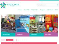 Frontpage screenshot for site: Dječji vrtić Rijeka (http://www.rivrtici.hr/)