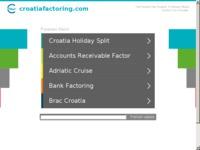 Frontpage screenshot for site: Croatia factoring d.o.o. (http://www.croatiafactoring.com)