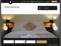 Frontpage screenshot for site: Hotel Galerija - Zagreb (http://www.hotel-galerija.hr/)