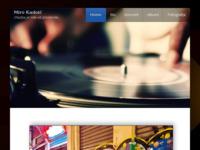 Frontpage screenshot for site: Miro Kadoić (http://www.music.com.hr)
