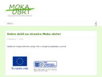 Frontpage screenshot for site: (http://www.moka.hr)