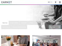 Frontpage screenshot for site: CARNet (http://www.carnet.hr/)