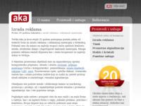 Slika naslovnice sjedišta: Aka d.o.o. - Izrada reklama (http://www.aka.hr)