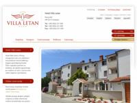 Frontpage screenshot for site: Hotel Letan (http://www.hotel-letan.hr/)