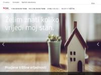 Frontpage screenshot for site: Zane d.o.o.- specijalizirano trgovacko drustvo za poslovanje nekretninama (http://www.zane.hr/)