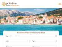 Frontpage screenshot for site: Polo line Baška, otok Krk (http://www.polo.hr/)