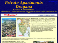 Frontpage screenshot for site: Privatni apartmani Dragana, Premantura (http://free-pu.htnet.hr/Apartments-Croatia/)
