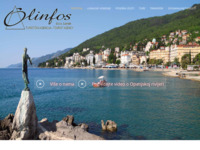 Frontpage screenshot for site: Olinfos turistička agencija, Lovran (http://www.olinfos.hr/)