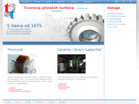 Frontpage screenshot for site: Tvornica plinskih turbina (http://www.tpt-hr.com/)