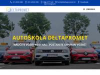 Slika naslovnice sjedišta: Autoškola Deltapromet (http://www.deltapromet.hr/)