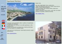 Frontpage screenshot for site: Apartmani Martinac, Baška Voda (http://www.inet.hr/martinac/)