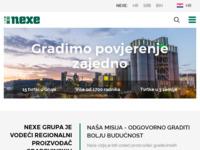 Frontpage screenshot for site: Nexe Grupa (http://www.nexe.hr/)