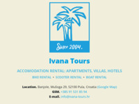 Frontpage screenshot for site: Ivana-Tours (http://www.ivana-tours.hr/)