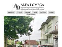 Frontpage screenshot for site: Alfa i Omega d.o.o (http://www.alfaiomega.hr)