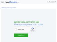 Frontpage screenshot for site: Paint Croatia (http://www.paintcroatia.com)