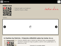 Frontpage screenshot for site: In Fashion by Patrizia (http://www.in-fashion.info)