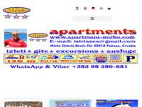 Frontpage screenshot for site: Apartmani Mirko Fažana (http://www.apartmani-mirko.com)