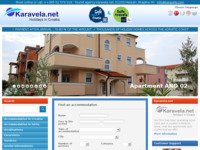 Frontpage screenshot for site: Karavela travel - Medulin, Hrvatska (http://www.karavela.com)