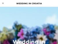 Slika naslovnice sjedišta: Vjenčanja u Hrvatskoj (http://www.wedding-in-croatia.com)
