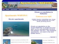 Frontpage screenshot for site: Apartmani Martina, Podstrana (http://www.cromedia.com/martina/)
