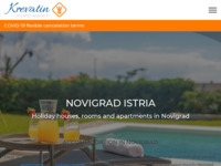 Frontpage screenshot for site: Krevatin tourist agency (http://www.adriatic.cc/)